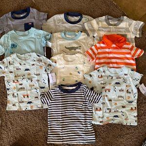 Carter shirt for boy 12m ( 40$/all ) 10pcs NWT
